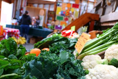 Produce for sale at Wild Hare Farm