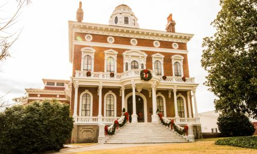Hay House during Christmas