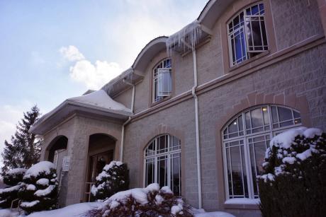 Casa Larga in the snow, Rochester, NY