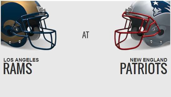 Image result for Los Angeles Rams vs. New England Patriots