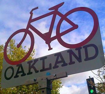 Oakland Bike Sign