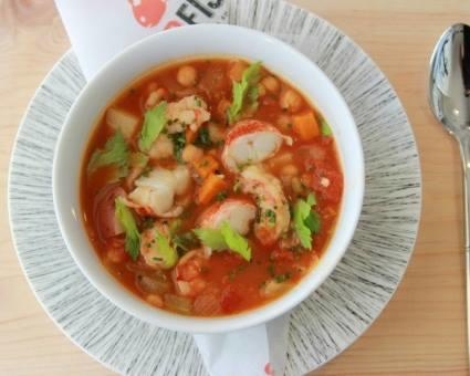 The Shrimp and Chickpea Stew is sure to fill you up!