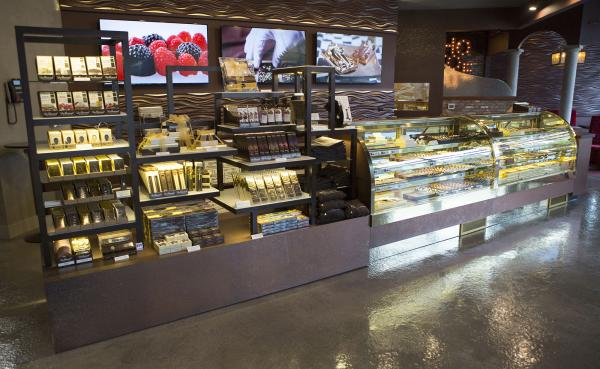 Chocolate Display Cases at the New Location