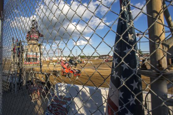 American Flag Rockford Speedway