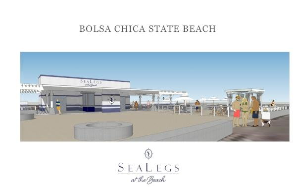 SeaLegs at the Beach rendering of concessions design