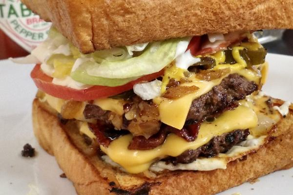 Crazy Hamburger from Cotten's Downtown.