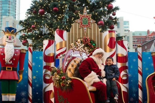 Santa in Sundance Square
