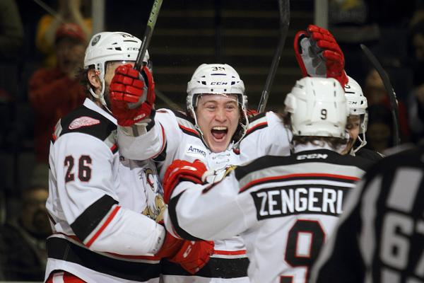 Bertuzzi, Griffins Hockey Celebrating