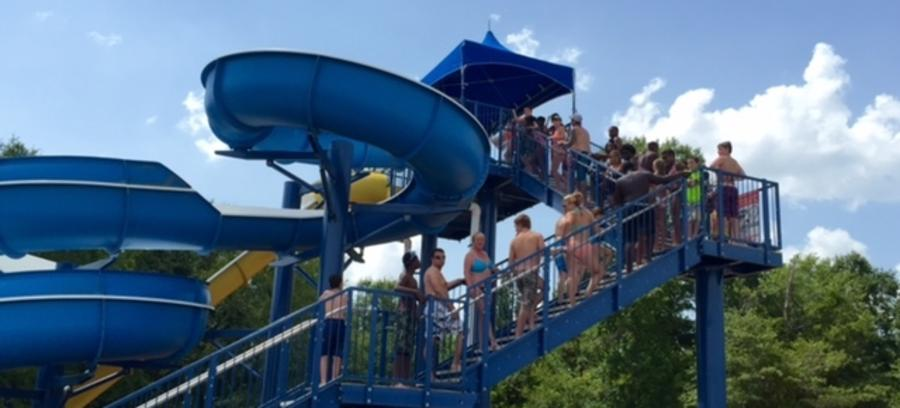 Sandy Beach Water Park Slide