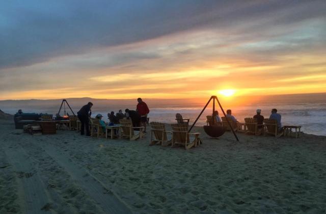 Bonfire at Sanctuary Beach Resort