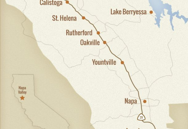 Napa Valley Towns Map