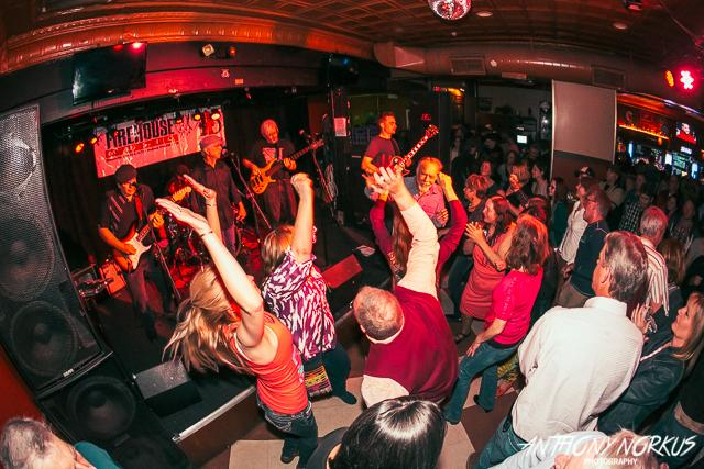 Crowd dancing at Billy's Lounge in Grand Rapids, Michigan