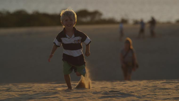 Kid Running beach