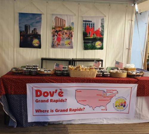 Grand Rapids Booth at Fieri Dei Morti market