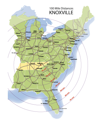 Distances from Knoxville