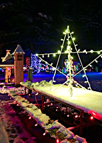 Christmas Village at Irvine Park in Chippewa Falls, WI