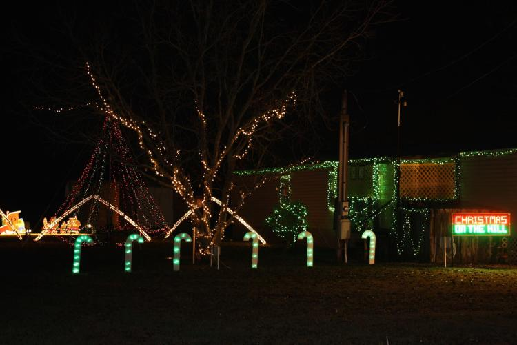 Fantastically decorated Christmas Lights Displays throughout SWLA.