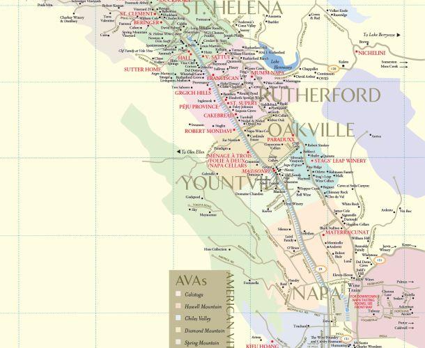 Napa Valley Winery Map