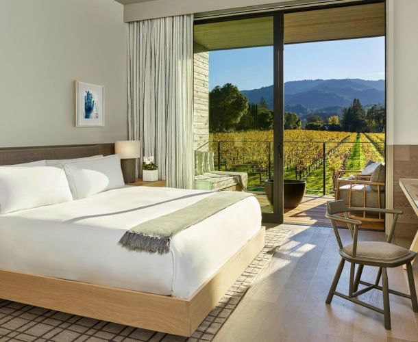 Hotel Room With Napa Valley Vineyard View