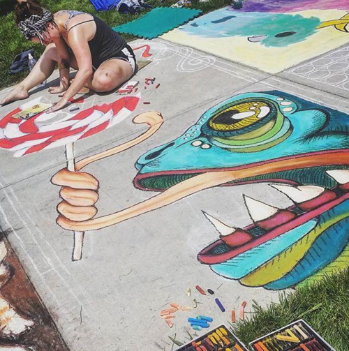 Chalkfest in Eau Claire, Wisconsin