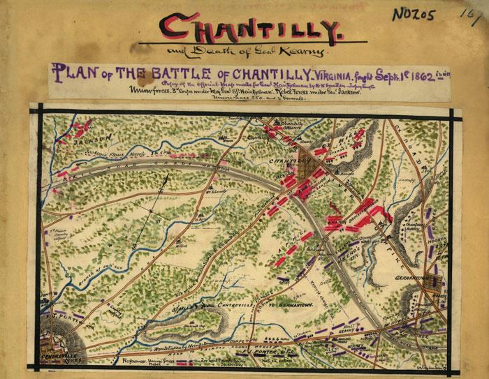 Battle of Ox Hill/Chantilly Map