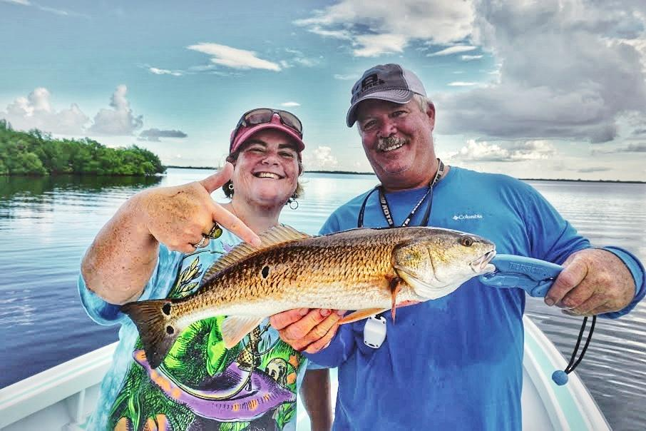 Janet Cassidy and Leroy Bennet w/Redfish
