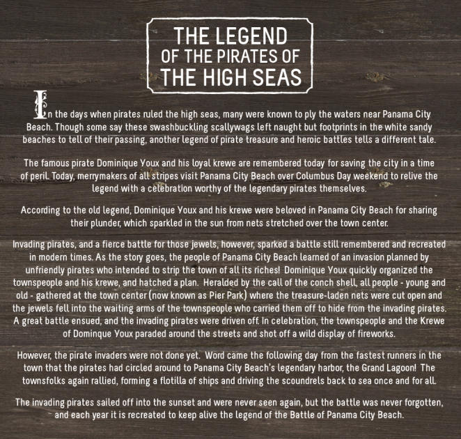 Legend of the pirates of the high seas