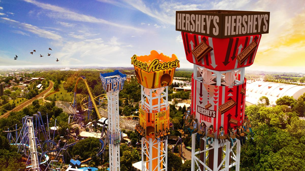 Hersheypark Triple Tower Artist Rendering 2016