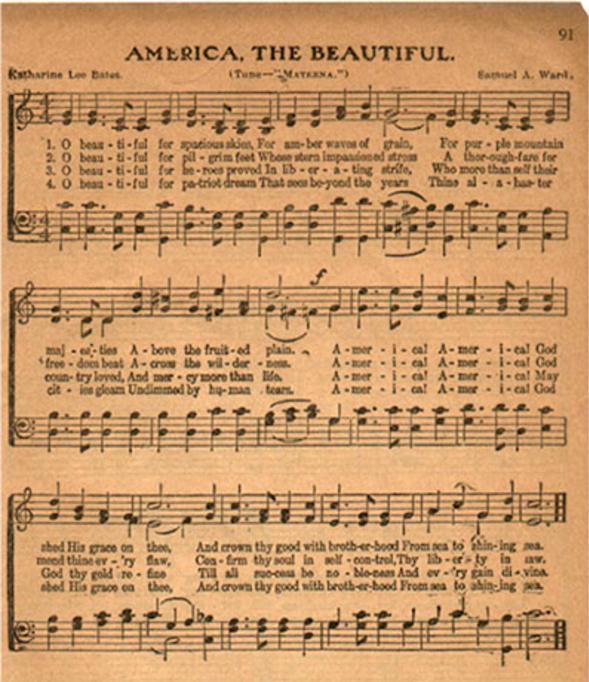 America the beautiful_x461