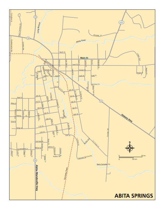 Map of Abita Springs