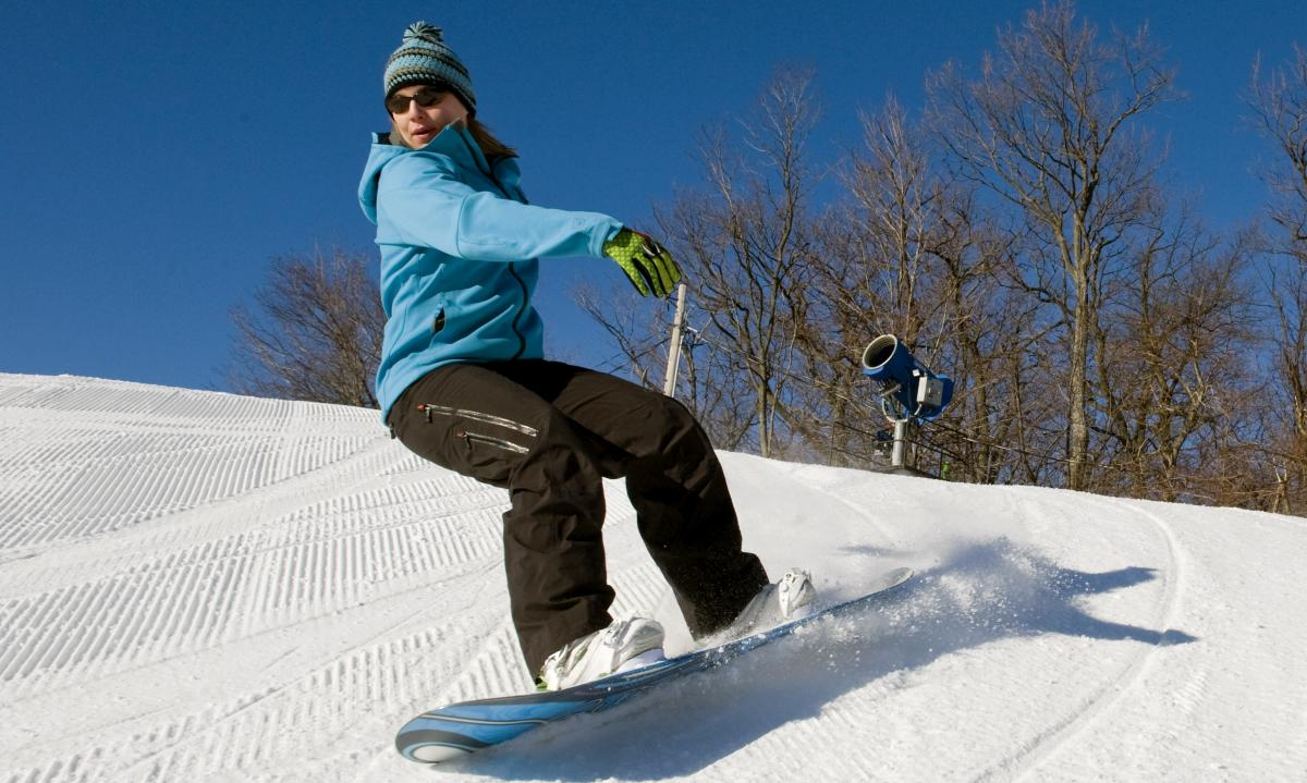 Roundtop Mountain Resort Snowboarding