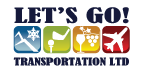 Lets go transportation logo
