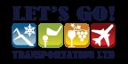 Lets go transportation logo