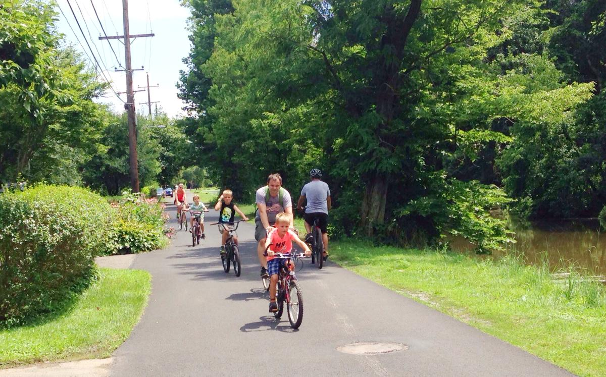 Yardley Canal Towpath family bike ride Elisa Baxt