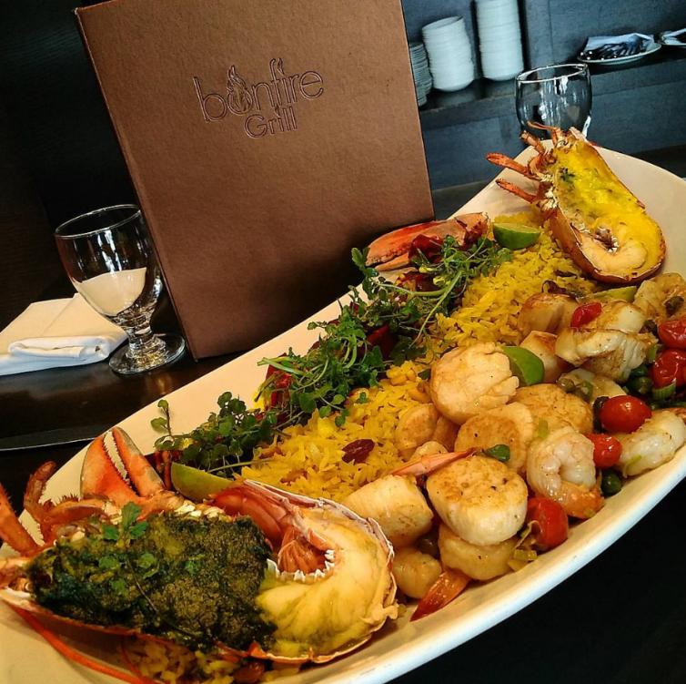 Bonfire Restaurant Seafood Platter