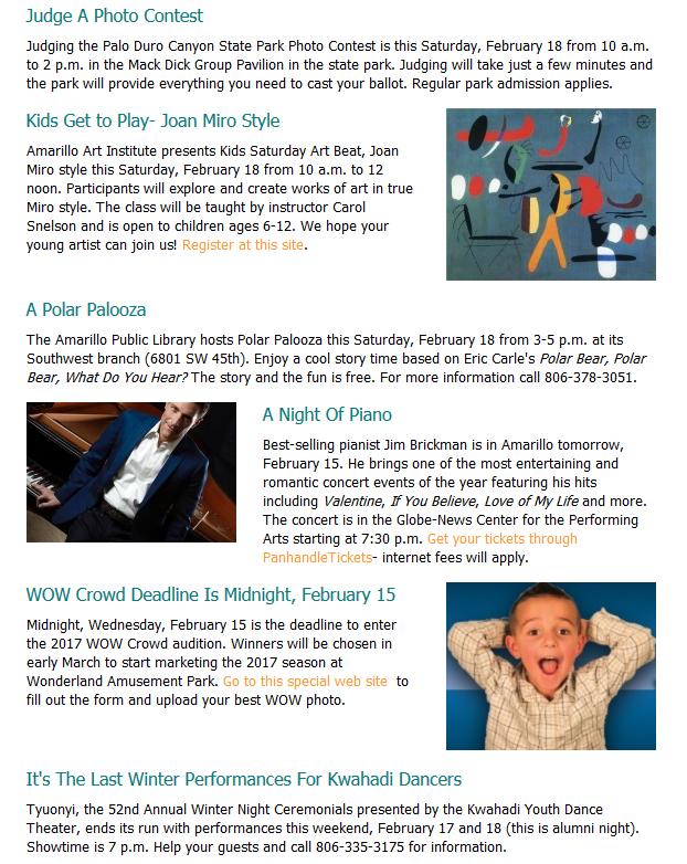 Amarillo newsletter