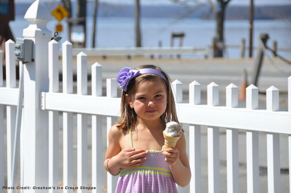 Enjoy an Ice Cream Cone at Gresham's Ice Cream Shoppe