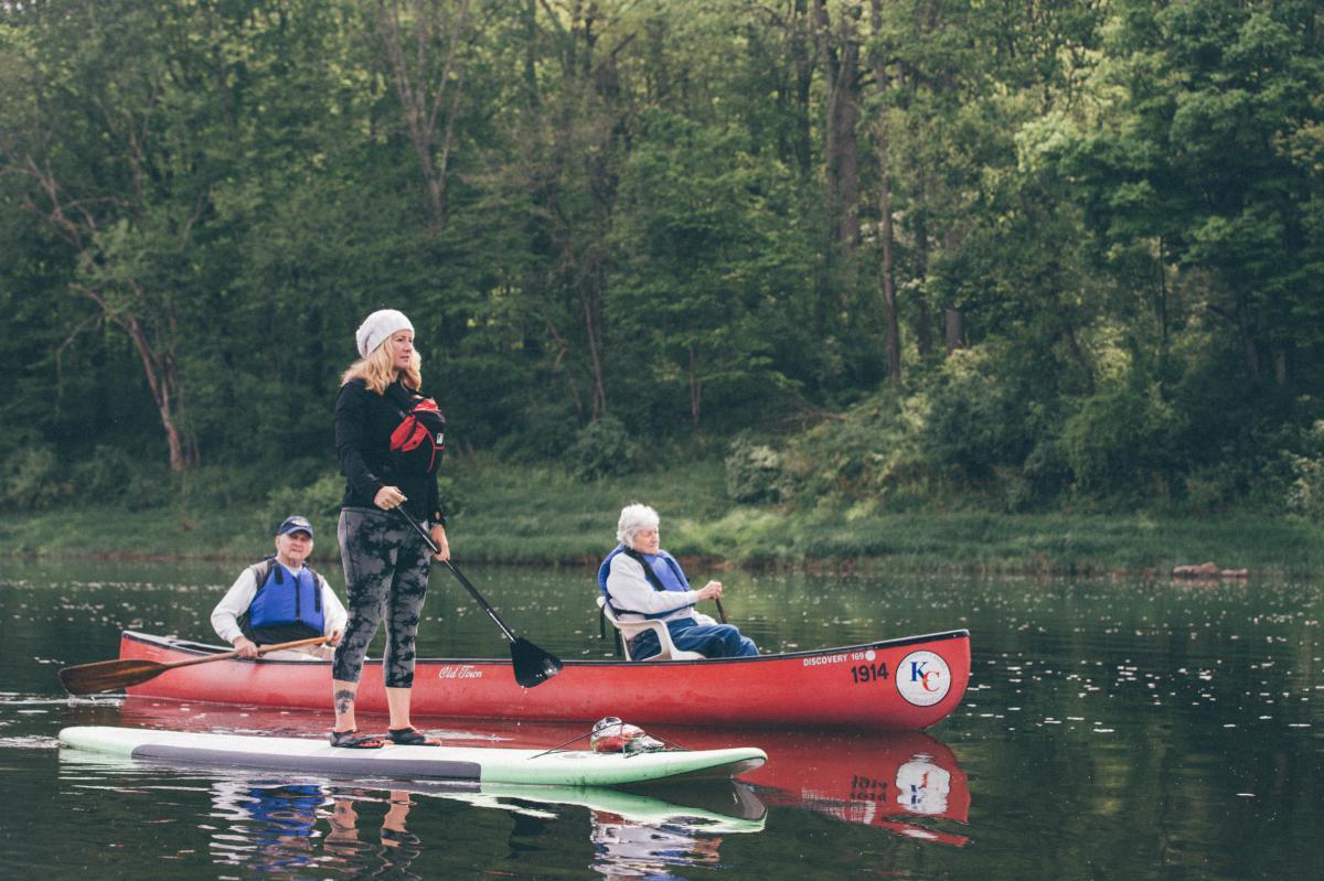 Ruth Jones Canoeing on the Delaware River