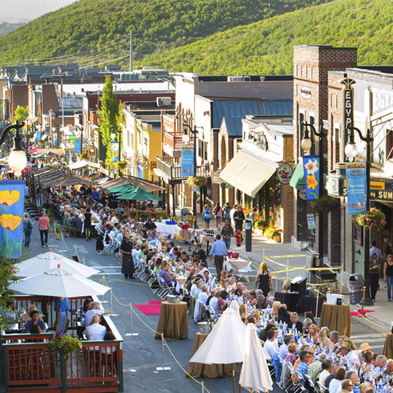 Historic Main Street festival in downtown Park City