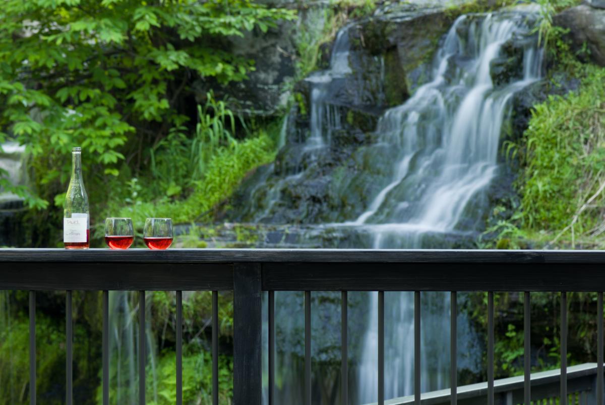 Stunning waterfalls views at the Ledges Hotel