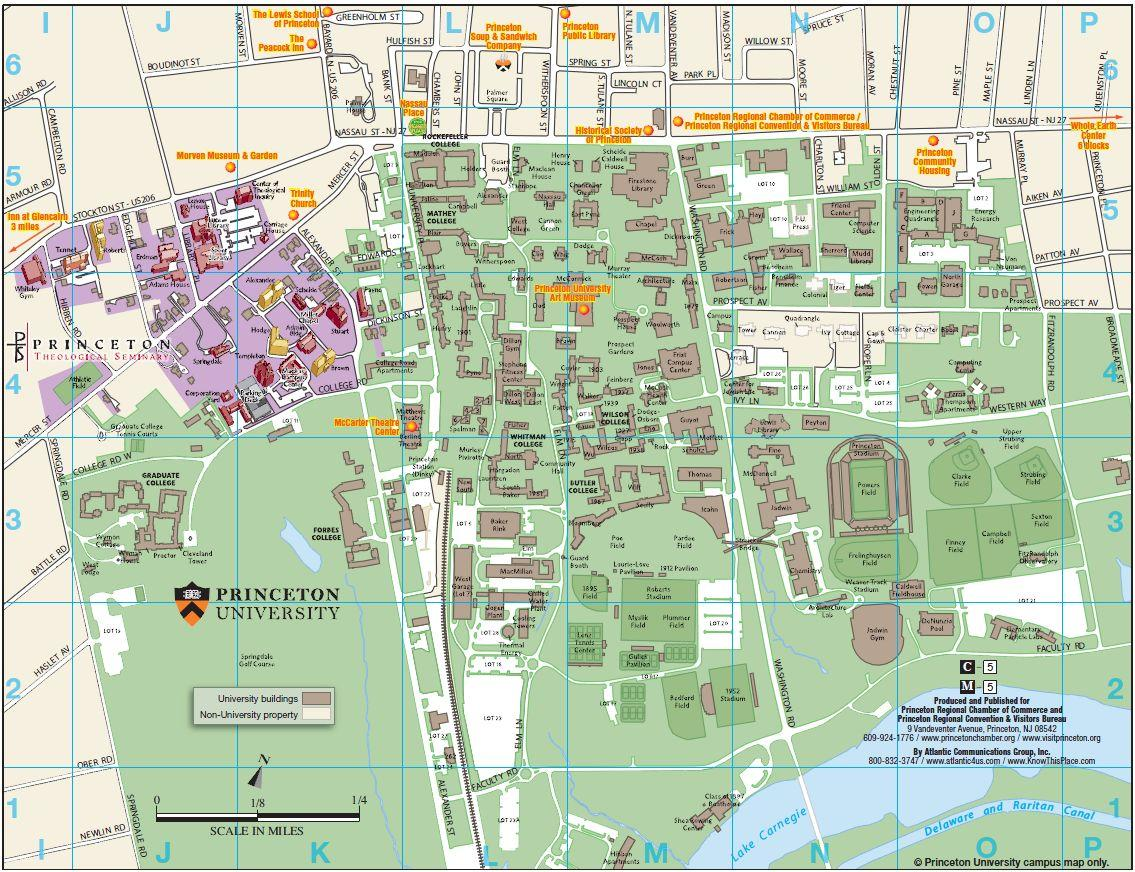 Princeton NJ Maps | Attractions, Parking & Hotels
