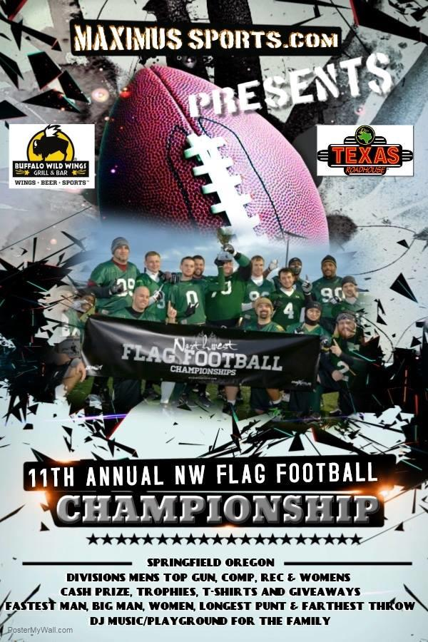 11th Annual NW Flag Football Flyer