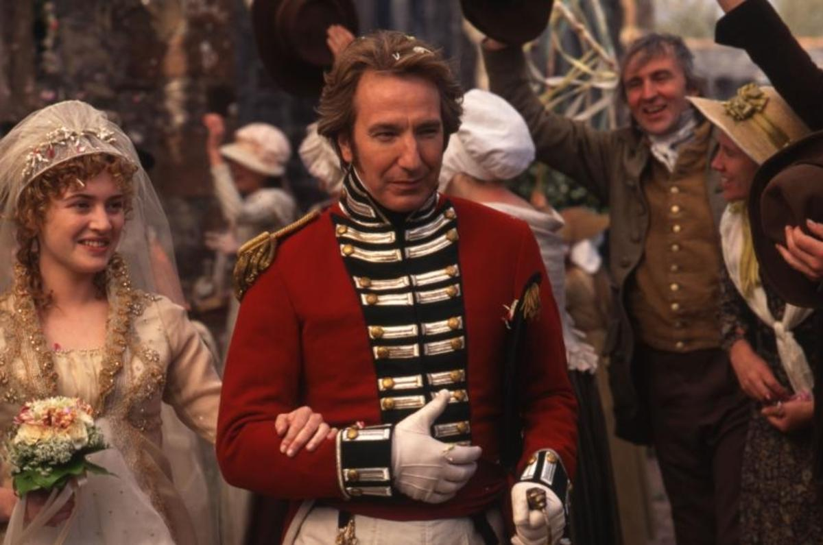 Alan Rickman and Kate Winslet in Sense & Sensibility