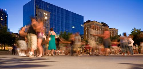 Swing Dancing at Rosa Park Circle