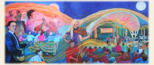 Golden Threads mural honoring history of Shindig on the Green