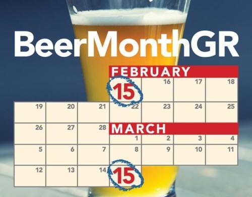 Beer Month Grand Rapids calendar
