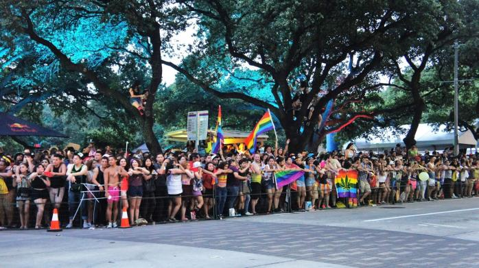 Crowd at Pride Houston Festival & Parade