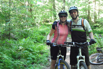 Mountain Biking Couple, Cascades
