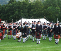 Bagpipers at the Monterey Scottish Game & Celtic Festival