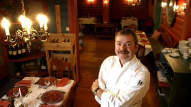 Frode Aga, the chef at Hallingstuene Restaurant in Geilo